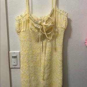 o.vianca yellow flower dress